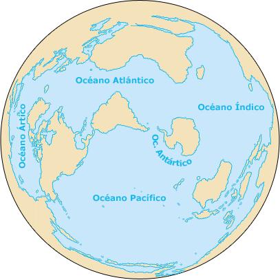 Oceanos globo terraqueo